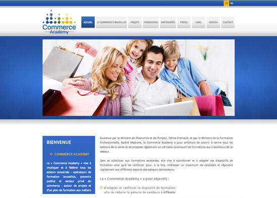 Site Internet Commerce Academy