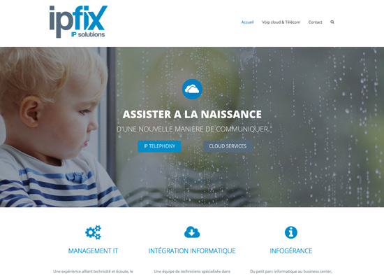 Création du site Internet iPFix Advanced IP Telecom